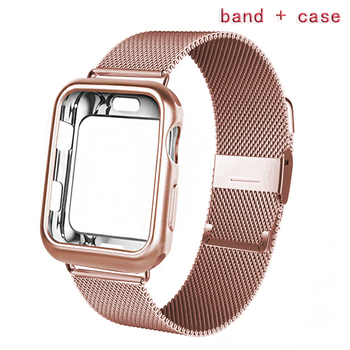 For Apple Watch case + band iwatch 5 strap 42 mm 38 mm Milan stainless steel strap bracelet watch Apple Watch 4 3 21 цена 2017