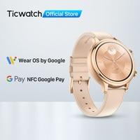 Ticwatch-reloj inteligente C2 para mujer, accesorio reacondicionado, sistema operativo Wear by Google, Compatible con Android e iOS, para nadar, GPS, NFC disponible