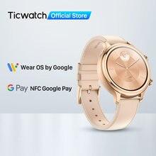 Ticwatch c2 (remodelado) usar os pelo google smartwatch relógio feminino android & ios compatível nadar pronto gps nfc disponível