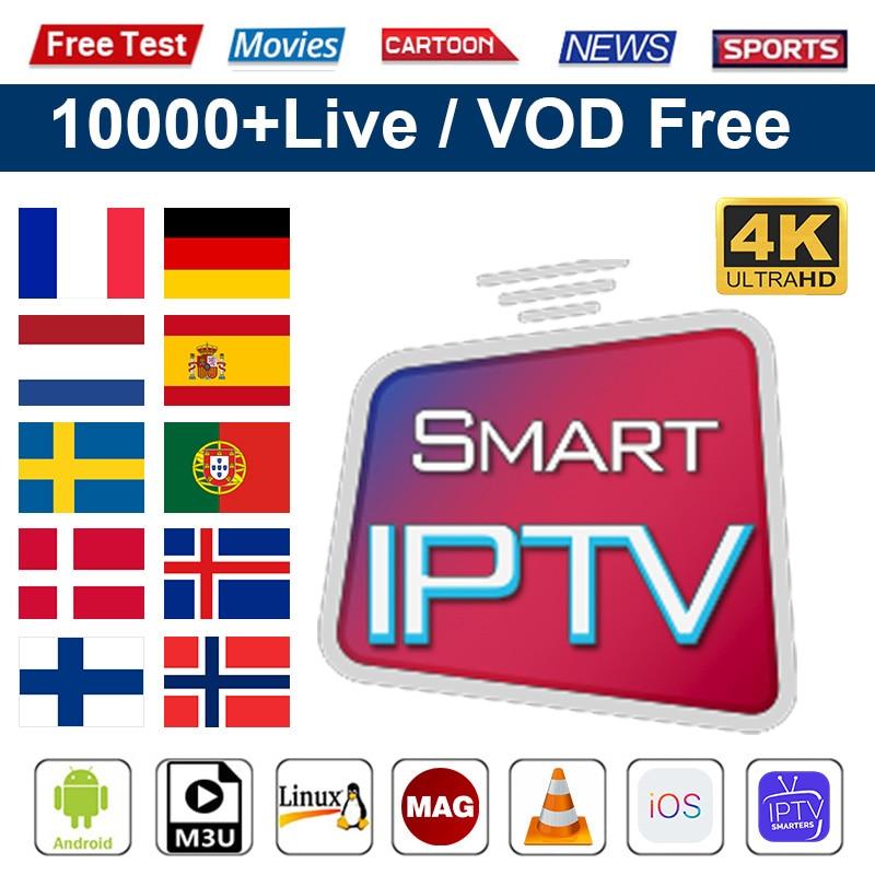Code IPTV Spain 1 Year IPTV Subscription Poland Sweden World Smart IPTV M3u Europe Netherlands Belgium Nordic IP TV Subscription