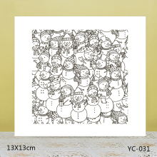 AZSG Snowman Clear Stamps/Silicone Transparent Seals for DIY scrapbooking Card Making 13*13cm