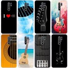Archiwalne gitary muzyczne silikonowe etui do Xiaomi Redmi Note 9 Pro Max 9S 8T 8 8A 9 9A T 9C K30 Ultra K30i 10X Pro 5G miękka okładka