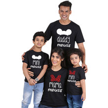 Daddy Mommy And Me Clothes Family T shirt Mini Mouse Cartoon Mama Baby Girl Father Son Mother Daughter Matching Outfits Look New