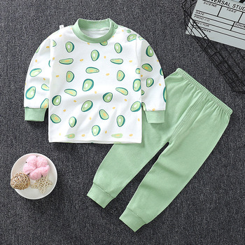0-24M Baby Clothing Sets Autumn Baby boys Clothes Infant Cotton Girls Clothes 2pcs newborn baby Underwear Kids Clothes Set - J, 3M