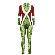Модные рождественские костюмы Санта Грин Ядовитый плющ 3d печатные