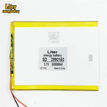 2990150 3,7 V 5000mAH (полимерный литий ионный аккумулятор) литий ионный аккумулятор для планшетного ПК 7 дюймов 8 дюймов 9 дюймов