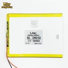 2990150 3.7V 5000mAH (batteria ai polimeri di batteria agli ioni di litio) batteria li ion per tablet pc 7 pollici 8 pollici 9 pollici