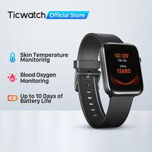 Ticwatch gth fitness smartwatch masculino/feminino monitor de temperatura da pele oxigênio sono rastreamento à prova dmobágua nadar esporte relógio mobwoi