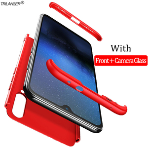 3-in-1 pancerna etui dla Mia3 Xiaomi-Mi-A3 z twardego tworzywa sztucznego Anti-Shock etui zderzak Xiaomi Mi A3 360 pełna pokrywa Xiomi MiA 3 Case + szkło mia3 case xiaomi mi a3