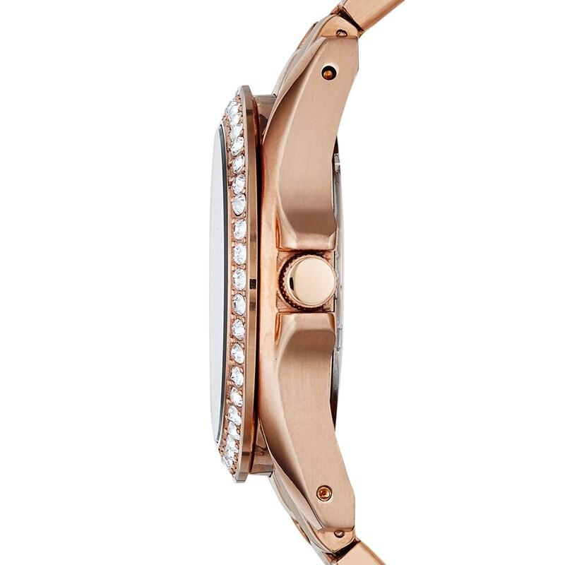 Fossil часы для женщин Riley многофункциональные розовые часы из нержавеющей стали Роскошные Кварцевые наручные часы для женщин ES2811 - 3