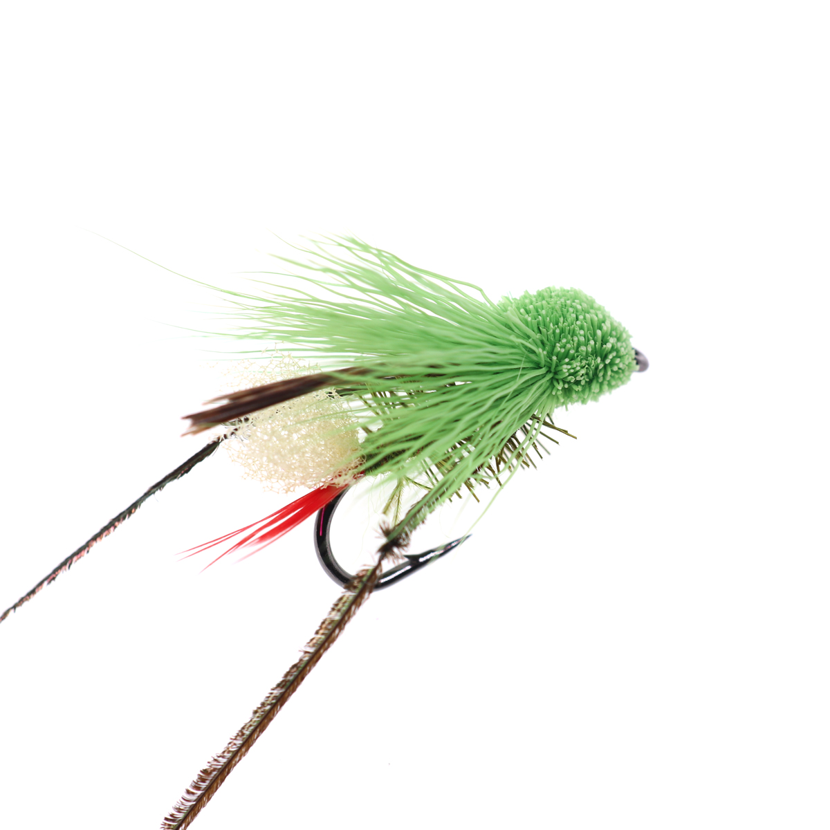 5PCS #10 Trout Fishing Fly Grass Hopper Fly terrestrial Hopper Fly Floating Bass Crappie Bug Bait Artificial Lure 14