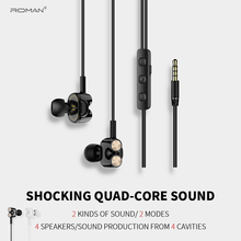 Roman E1 Stereo Gaming Earphone for Phone Xiaomi with Microphone iPhone 5s 6 Computer