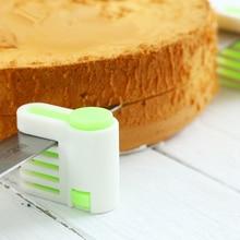 2 Piece DIY Cake Slicer 5 Layer Cutting Fixture Tool Kitchen Baking Pan new