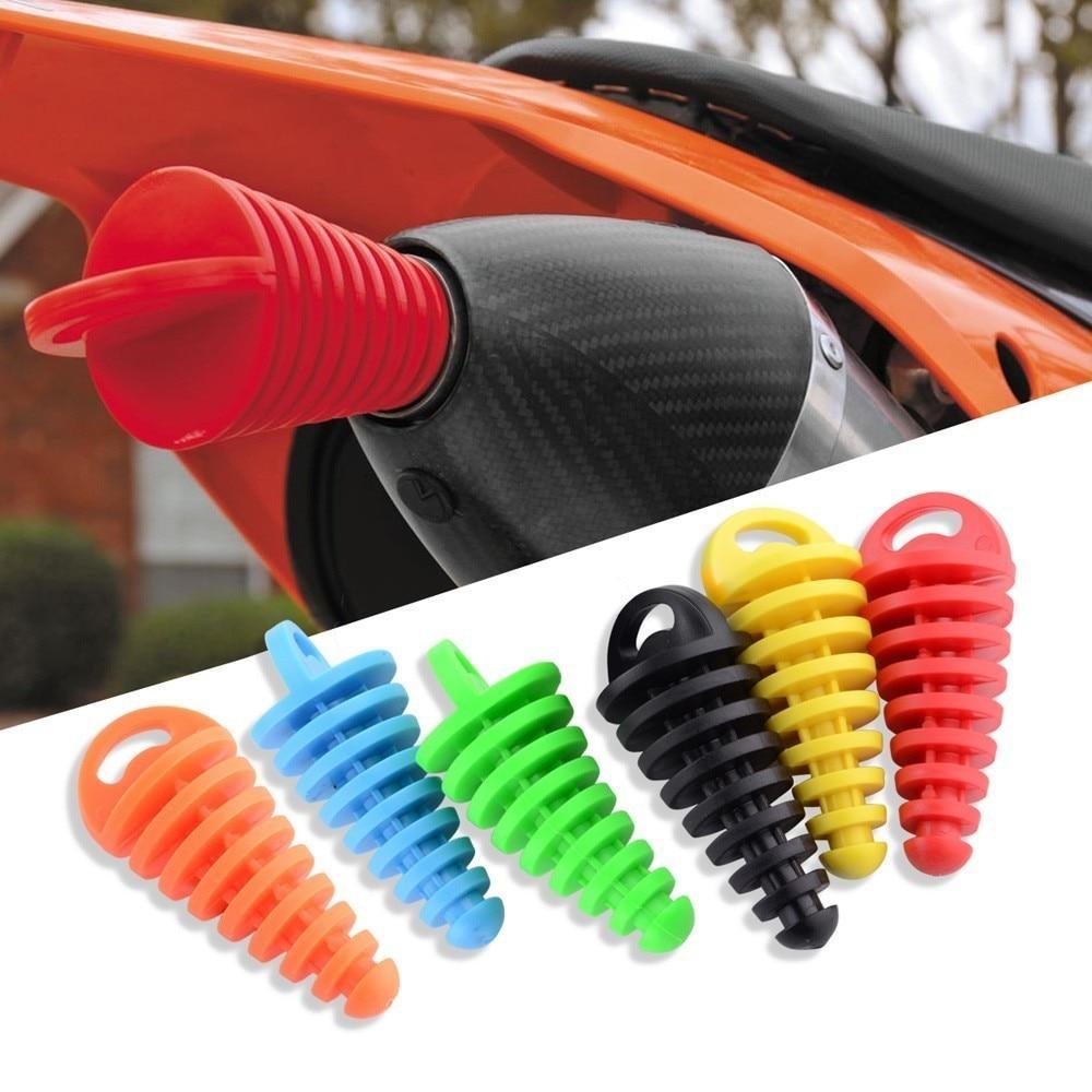 Exhaust Silencer Plug Motorcycle Tailpipe Air-Bleeder Plug Motocross Muffler Wash Plug Pipe Protector