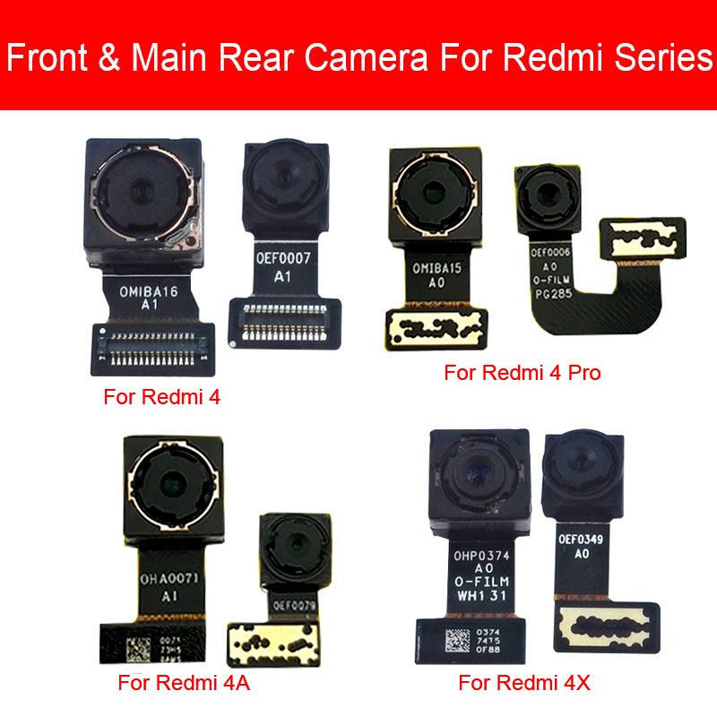 Front & Rear Camera Moduel For Xiaomi Redmi 4 4A 4X Pro Main Back BIG Camera Flex Ribbon Cable Replacement Repair Parts
