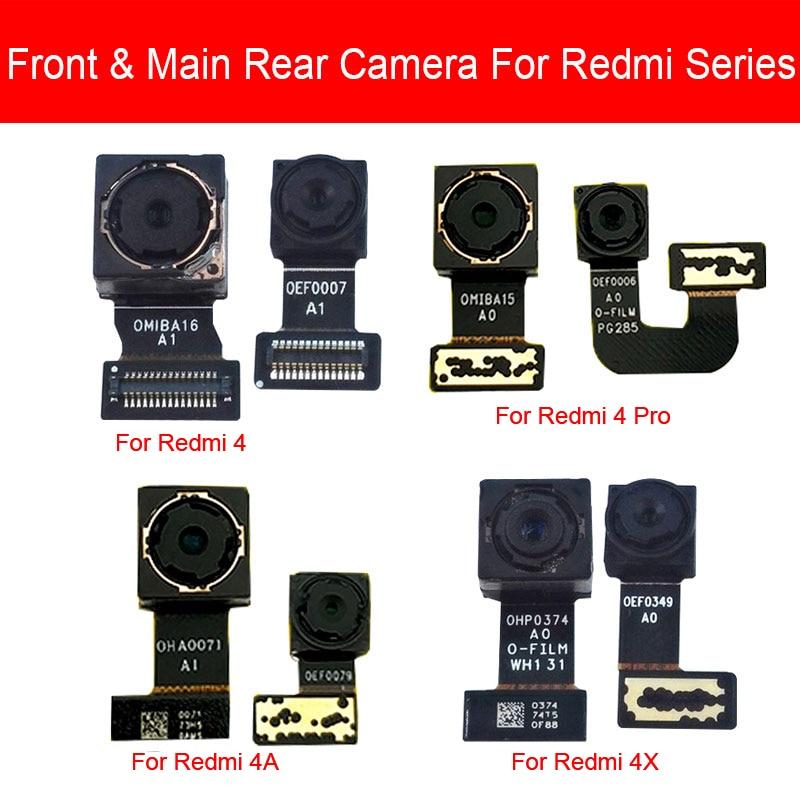Front & Rear Camera Moduel For Xiaomi Redmi 4 4A 4X Pro Main Back BIG Camera Flex Ribbon Cable Replacement Repair Parts