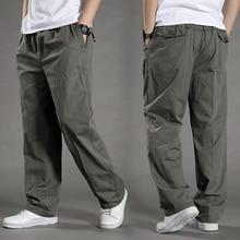 Hommes Harem tactica pantalon marque 2020 été affaissement coton pantalon hommes pantalon grande taille sport pantalon hommes Joggers pieds pantsL 6XL