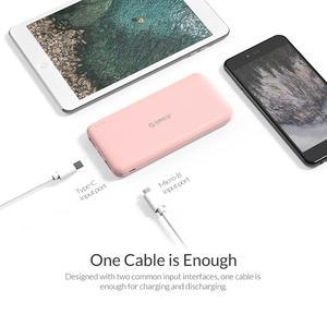 Image 4 - Bateria externa portátil orico, bateria fina de 10000mah, carregador para telefone celular xiaomi usb tipo c