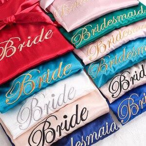 Casual Soft Lady Bride Bridesmaid Wedding Sleepwear Exquisite Embroidery Nightgown Nightwear Sexy Mini Bath Gown Solid Homewear(China)