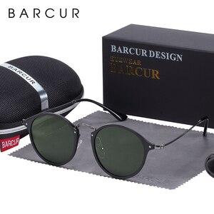 Image 5 - BARCUR Round Sunglasses Women Steampunk Sunglasses Polarized Woman Sunglases Retro oculos masculino