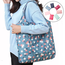 Snailhouse New Flower Foldable Shopping Bags Reusable Folding Grocery Nylon eco tote Bag