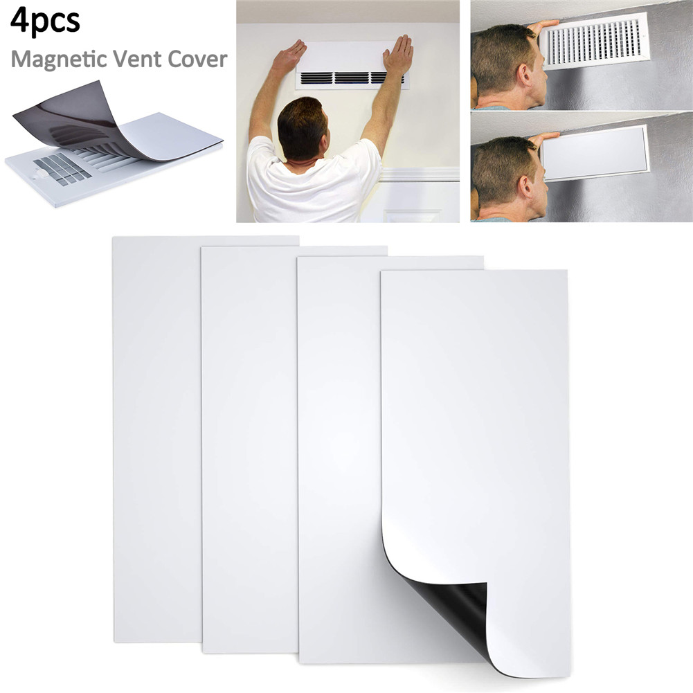 4PCS Magnetic Vent Covers Double Thick Magnet For Wall Registers Or Floor Air Vents Home HVAC Vent Detachable Energy Saving