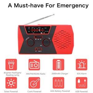 Image 5 - Аварийное радио, аварийное, на солнечной батарее, с AM/FM, светодиодный, для чтения, сигнал SOS