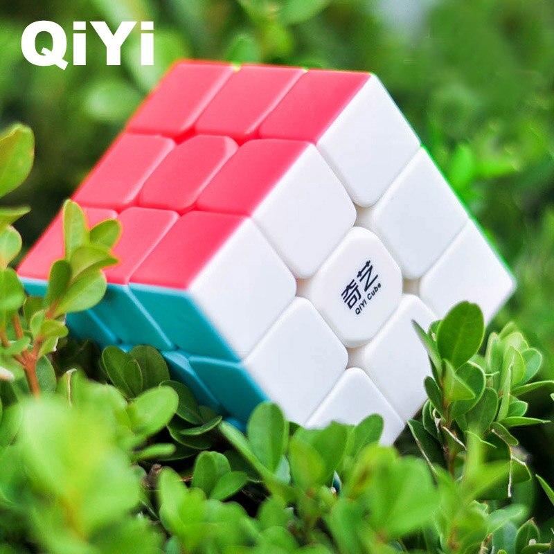 Cubos mágicos QiYi Guerreiro W 3x3 Novo Design Suave Cubo Magico Cubo de Velocidade Clássico Brinquedos Educativos para Crianças magic Cube-MF3SET