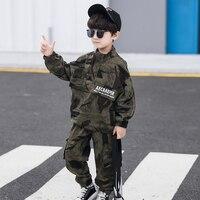 Camouflage Sweatshirt +Pocket Pants Children Two Piece Suits Casual Baby Boys Pants Set Child Sportwear Tracksuits Boy Cloth Set
