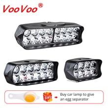 VooVoo, мотоциклетный светодиодный головной светильник, скутер, ATV, мото, налобный фонарь, точечный светильник, 12 В, светодиодный, 6500 К, мотоциклетный точечный головной светильник, Рабочая лампа DRL