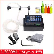 24w 1-2000ml de água de controle digital auto-líquido ml máquina de enchimento líquido da bebida do cnc frasco de leite do perfume do óleo