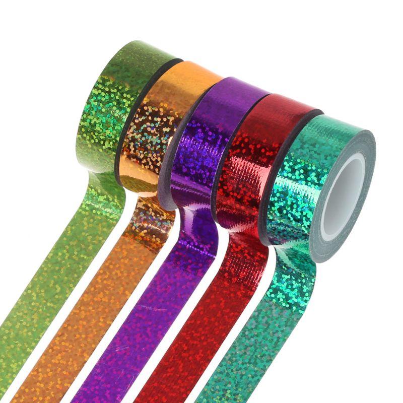 Rhythmic Gymnastics Decoration Holographic Glitter Tape Ring Stick Accessory