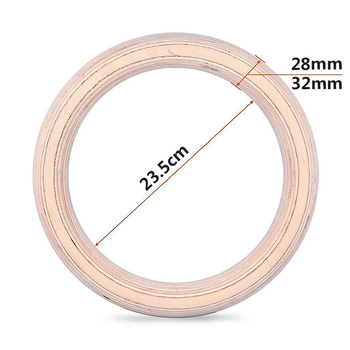 New Wooden 28mm Exercise Fitness Gymnastic Rings Gym Exercise Crossfit Pull Ups Muscle