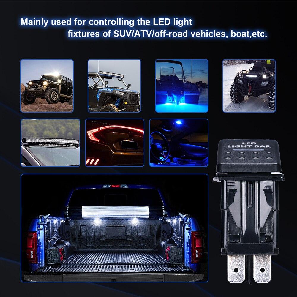 LED Light Bar and Backup Light Rocker Switch for UTV Polaris Ranger RZR Can Am Commander 800 1000 Maverick 1000R