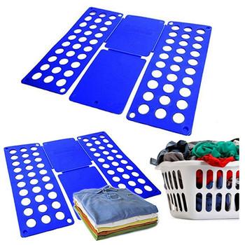 Ubrania dla dorosłych Folder t-shirty bluzy organizator Fold Save Time szybkie ubrania składana tablica uchwyt na ubrania produkty gospodarstwa domowego tanie i dobre opinie CN (pochodzenie) Z tworzywa sztucznego Clothes Folder LSAWHC002 Color Random Magic Clothes Folder 48*40*0 2cm for child