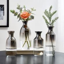 Nordic Style Gradual Change Terrarium Glass Containers Flower Vase Arrangement Vase Decoration Home Gold Vase Wedding Vase