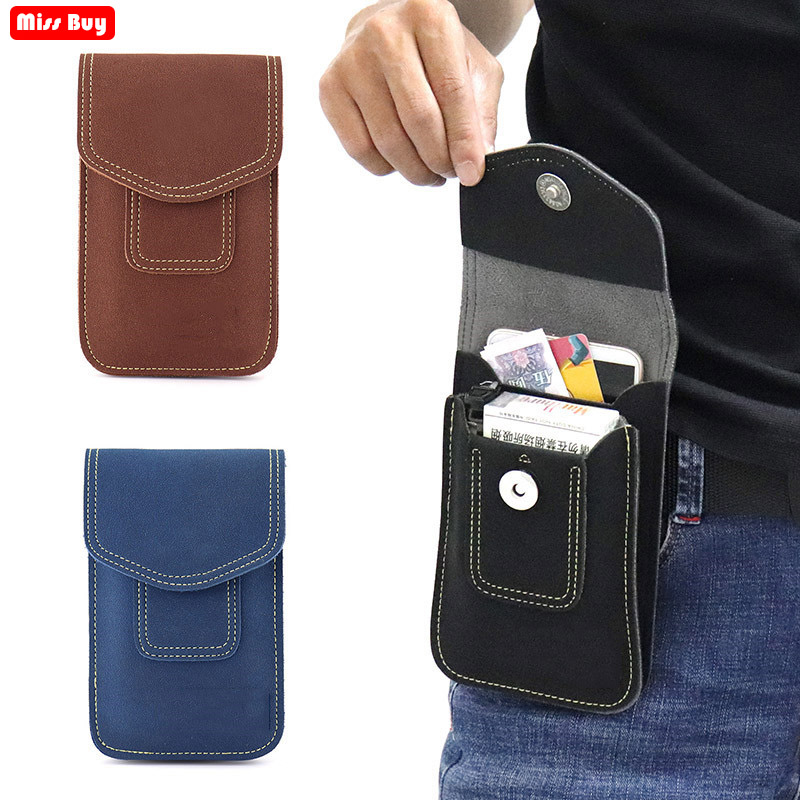 Universal Superfibre Phone Bag for <font><b>iPhone</b></font> for Samsung for Huawei For Xiaomi Redmi For Meizu <font><b>Case</b></font> Superfibre Waist Bag Belt Pouch image