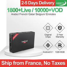 Leadcool Pro Android 8.1 RK3229 1+8G Italy UK Netherlands Spain Belgium France Arabic 1 Year IPTV Subscription Smart Box