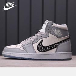 Spedizione gratuita aj Dior x Nike-Air Jordan 1 High OG scarpe da basket da uomo donna Sneakers sportive alte da esterno taglia
