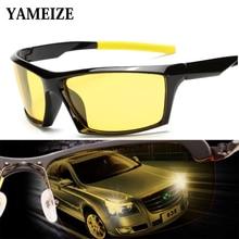 YAMEIZE-Lunettes rectangulaires de Vision nocturne, pour la conduite, lentilles jaunes, protection contre les UV