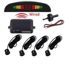 Czujnik parkowania samochodu z 4 czujnikami Monitor czujnika cofania System detektorów wyświetlacz