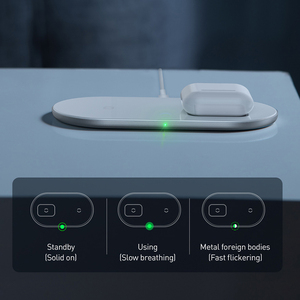 Image 4 - BASEUS 2 in 1 Qi 18W ไร้สายสำหรับ Airpods iPhone 11 Pro Samsung S10 Fast CHARGING Phone Charger พร้อมสาย USB