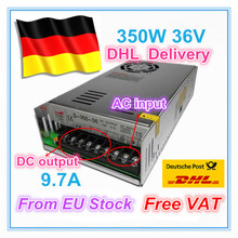 EU ship/free VAT 350W 36V Switch DC Power Supply for CNC Router Single Output  350W 36V Foaming Mill Cut Laser Engraver Plasma [powernex] mean well original hvg 150 36d 36v 4 17a meanwell hvg 150 36v 150 12w single output led driver power supply d type