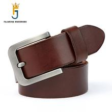 FAJARINA Fashion Design Casual Style Buckle Solid Cow Skin Belts for Men Genuine Leather Belt Factory Direct Selling N17FJ757