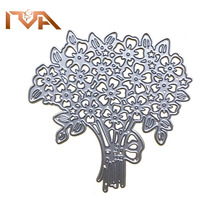 Dies Scrapbooking Nouveau 2020 Bunch Of Flowers Metal Cutting For Die Valentines Gift Paper Card Cut And Embossing