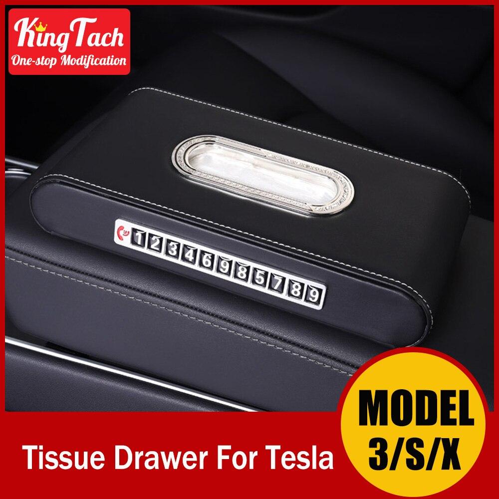 caixa de tecido para tesla model 3 x s pala de sol do carro portatil de