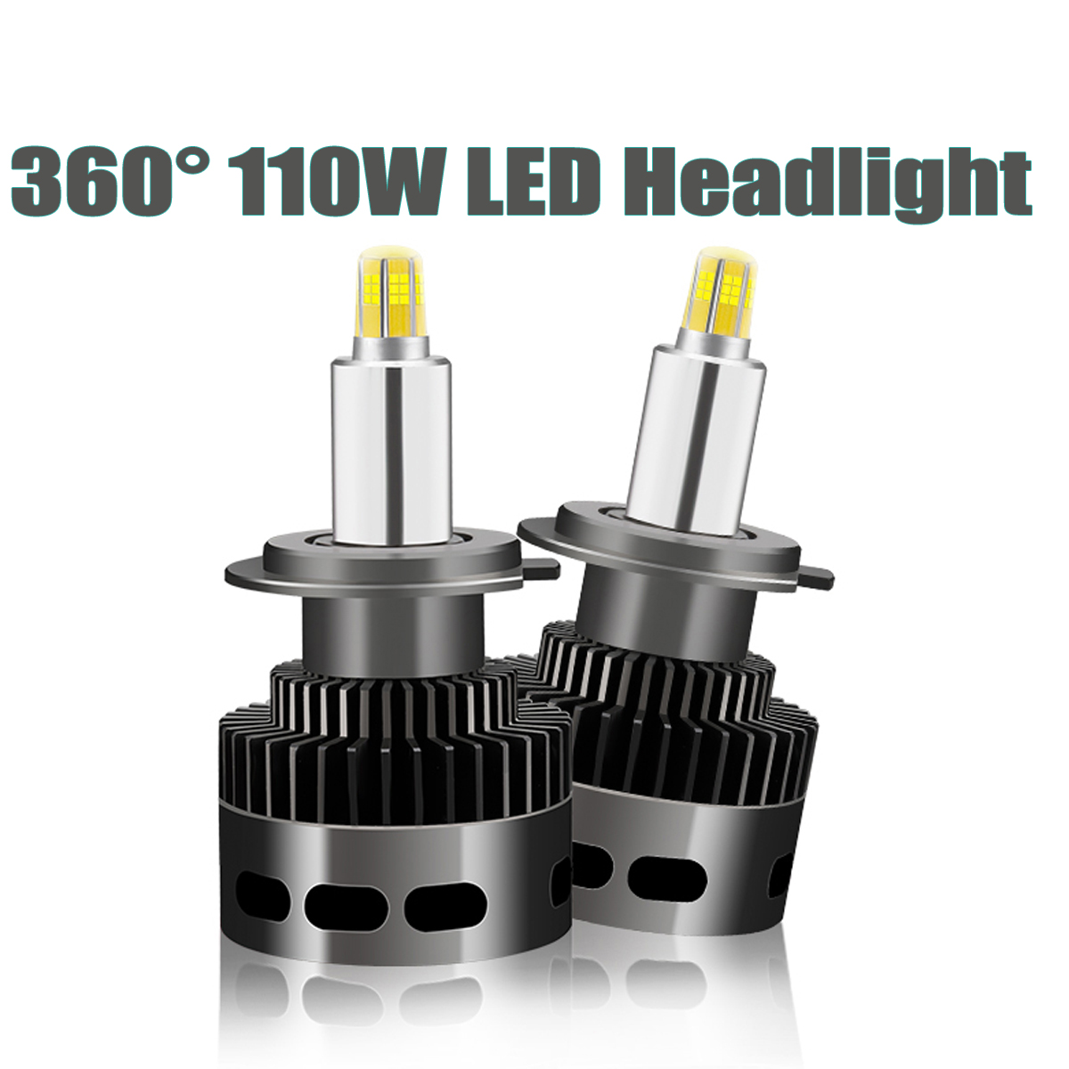 2pcs 110W 14500LM Car <font><b>LED</b></font> <font><b>Headlight</b></font> Bubls Mini <font><b>Headlight</b></font> Kit for <font><b>360</b></font> 3D stereo light Bulb fog Light 6500k White H1 H7 H11 9006 image