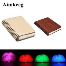 Светодиодный портативный ночсветильник магнитная складная деревянная