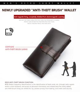 Image 5 - WESTAL wallet mens genuine leather purse for men clutch male wallets long Leather zipper wallet men business money bag 6018