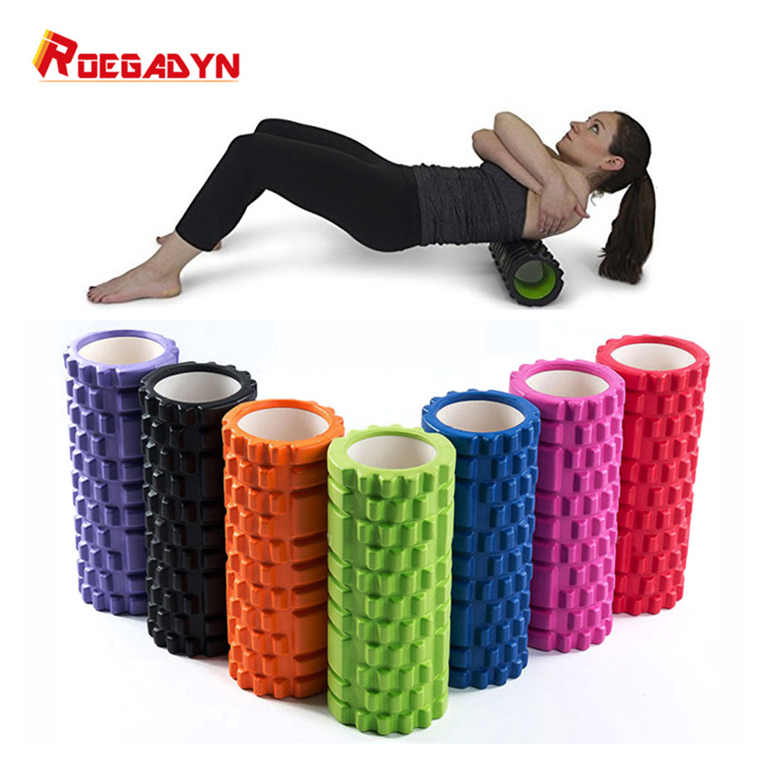 ROEGADYN Fitness Roller Black Yoga Foam Roller Fitness Yoga Accessories Yoga Cube Foam Roller Muscle Relax Foam Massage Roller